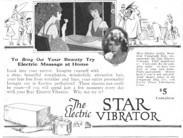 The Star Electric Vibrator, Cosmo, June 1919.