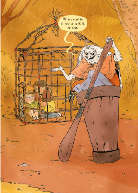 From Baba Yaga's Assistant by Marika McCoola and Emily Carroll.