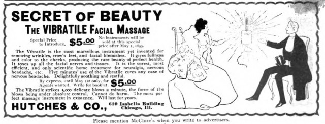 Vibratile Facial Massage, McClure's, April 1899.