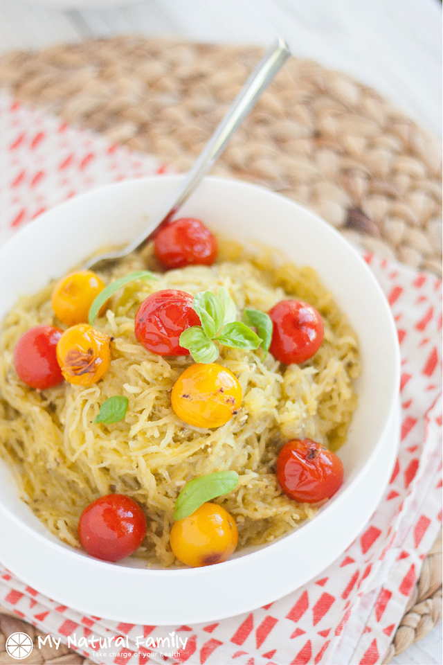 Twice-Baked Spaghetti Squash With Pesto And Parmesan Recipes ...
