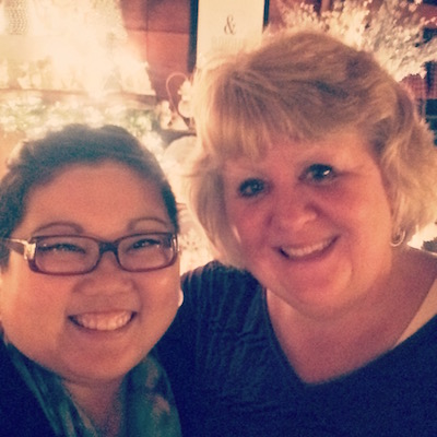 Me and my mom, festive adults having festive fun together!