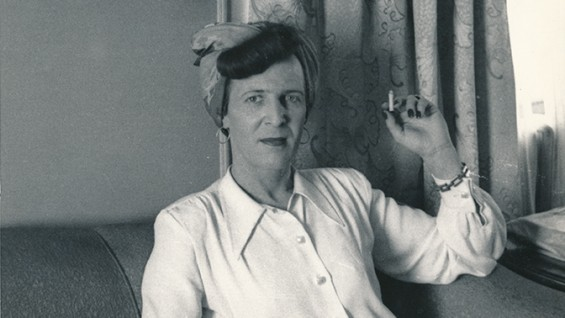 Louise Lawrence with cigarette. Courtesy of Kinsey Institute, Indiana University