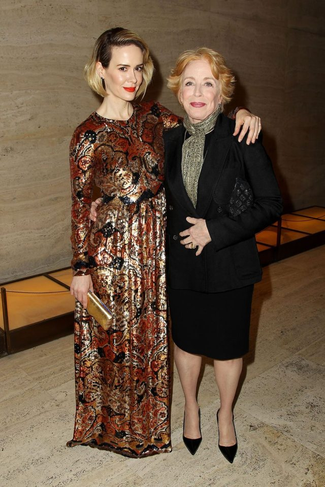 "Sarah Paulson and Holland Taylor at the premiere for ""Carol"""