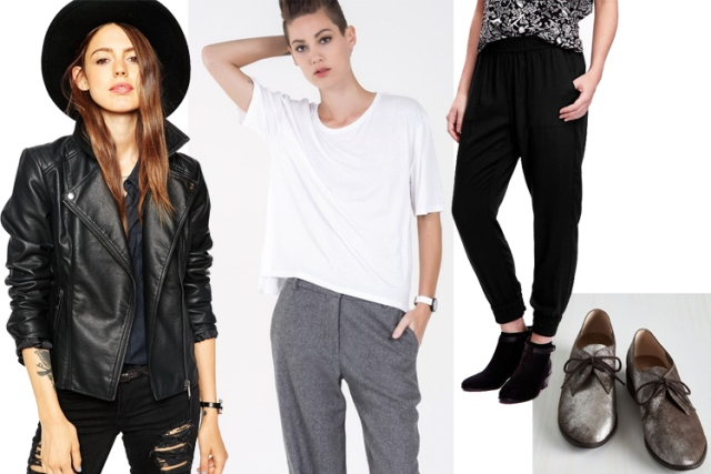casual cool shopping collage