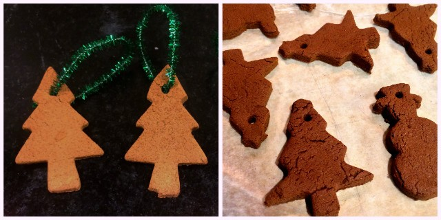 You can cut them into any shape you want! Like cats! I made cat ornaments. I also made a couple funny-looking bunnies.