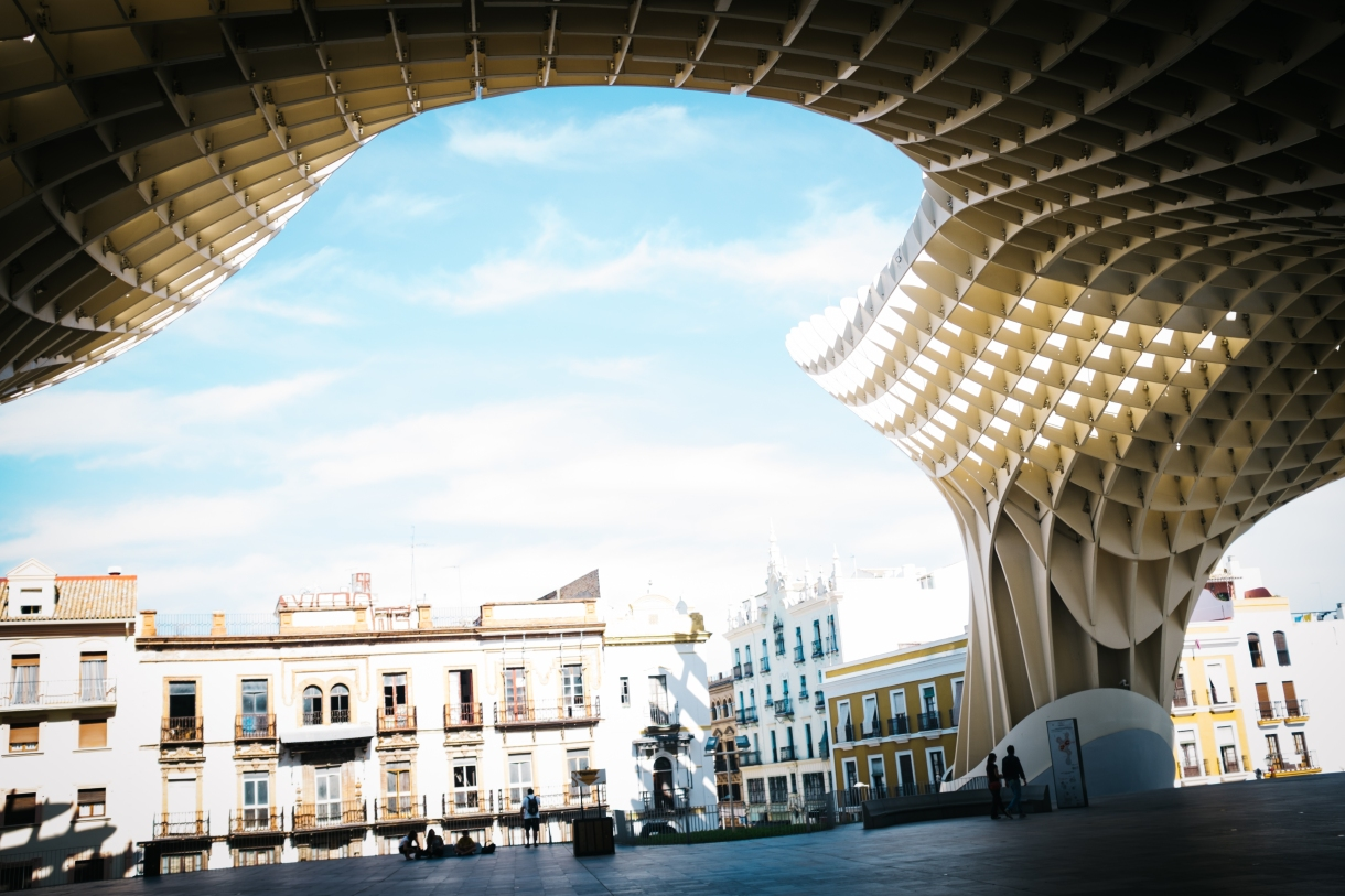Metropol Parasol, a new structure you can walk along and view the city