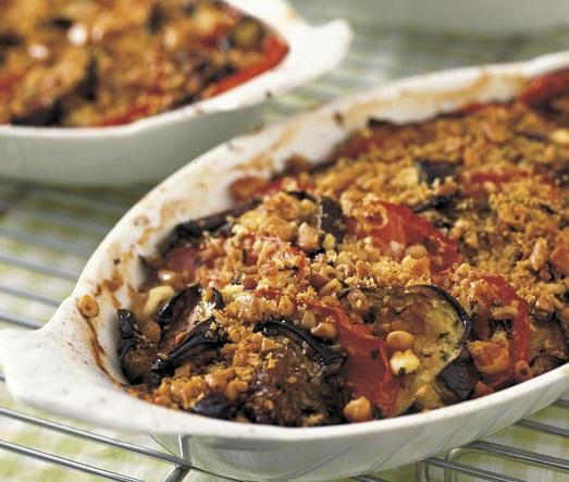 25. Eggplant Tomato Gratin with Mint, Feta & Kalamata Olives
