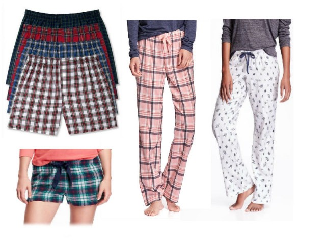 flannel pants collage