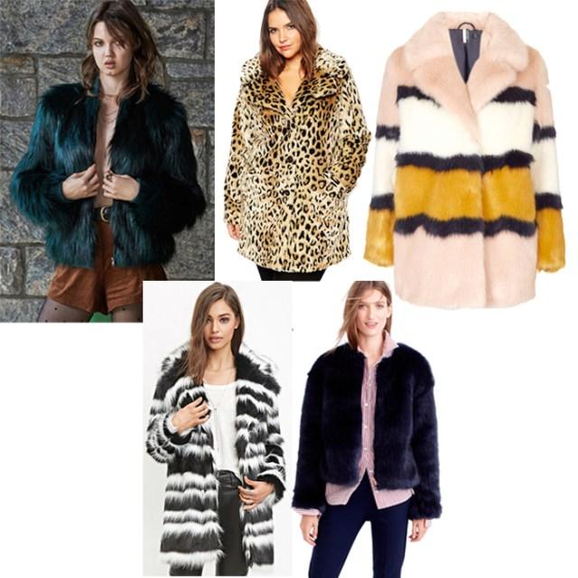 Faux Fur Zip Up Jacket, Curve Faux Fur Coat, Colour Block Faux Fur Coat, Striped Faux Fur Coat, J. Crew Collection Faux Fur Jacket