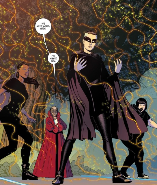 From The Wicked + The Divine #9 with art by Jamie McKelvie.