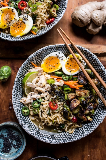 30-Minute-Chicken-Ramen-with-Miso-Roasted-Brussels-Sprouts-Ginger-Butter-1
