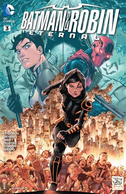 Cass Cain on the cover of Batman & Robin Eternal #3, cover by Tony Salvador Daniel, Sandu Florea and Tomeu Morey.