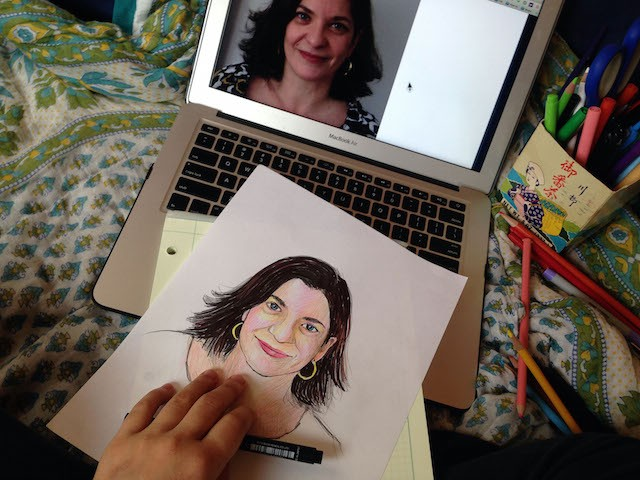 Miyuki_Drawing on my bed