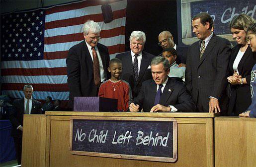 George W. Bush signing No Child Left Behind