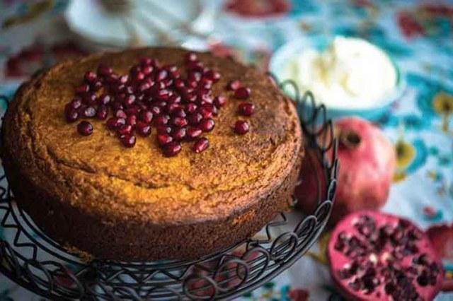 Orange, Almond and Pomegranate Cake