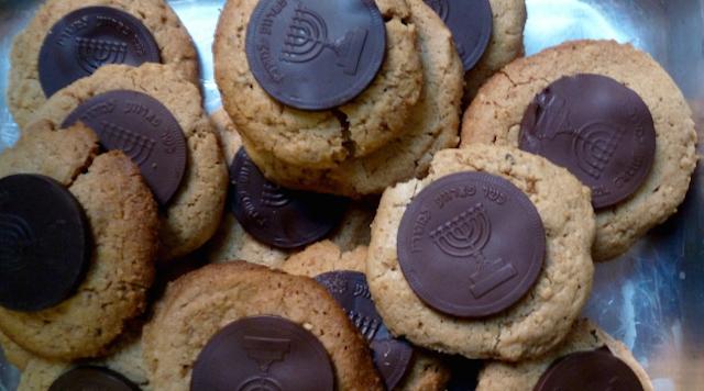 Peanut Butter Gelt Cookies