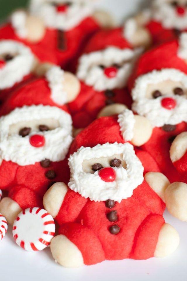 Roly-Poly Santa Cookies