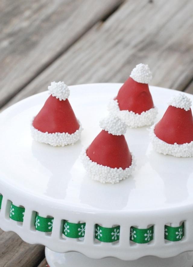Santa Hat OREO Cookie Balls