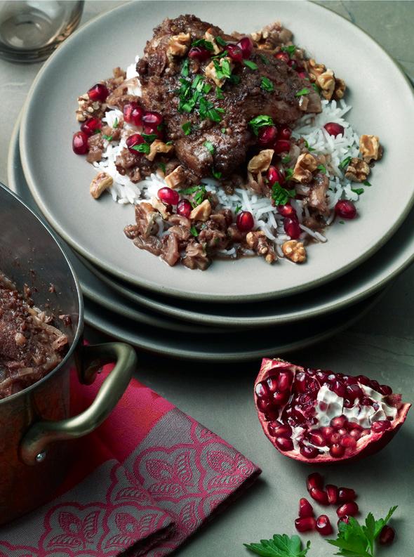 Khoresh-e-Fesenjan (Chicken, Walnut and Pomegranate Stew)