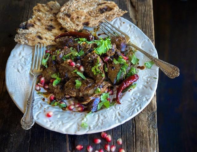 Chicken Liver with Pomegranate Molasses