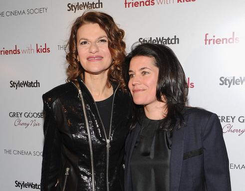 Sandra Bernhard with her partner Sara Switzer
