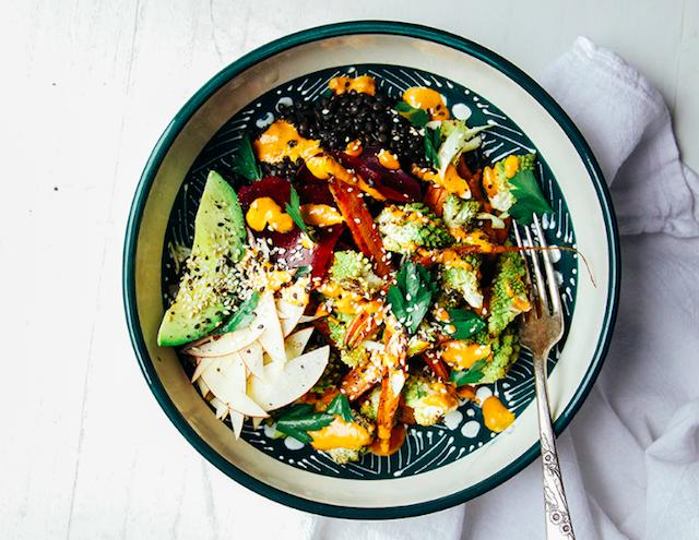 fall-veg-lentil-bowl-w-goji-ginger-tahini-cream-recipe