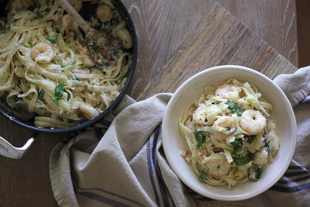 ginger-gulf-shrimp-pancetta-carbonara