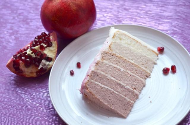 Pomegranate Ombré Cake