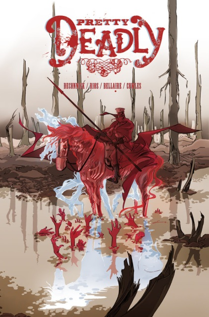 The cover of Pretty Deadly #6, art by Emma Rios.