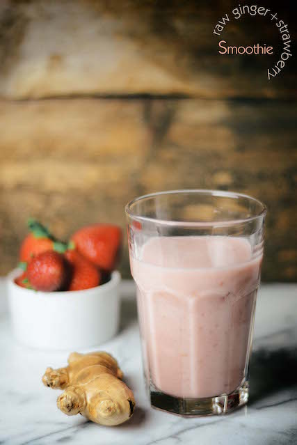 raw-ginger-strawberry-smoothie