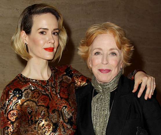 Holland Taylor with her girlfriend Sarah Paulson