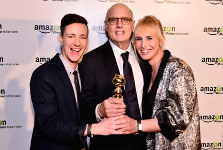 Rhys Ernst,Jeffrey Tambor, and Zackary Drucker. (Photo by Jerod Harris/Getty Images for Amazon Studios)
