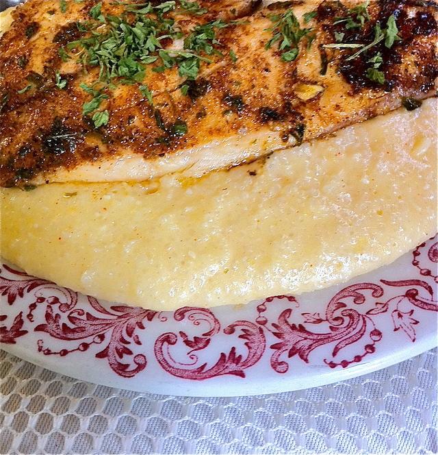 Cajun Fish and Savory Cheese Grits
