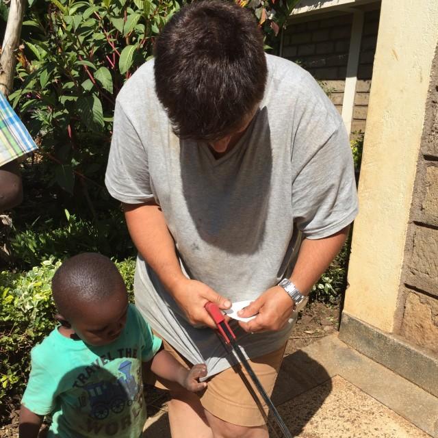Hattie in Kenya