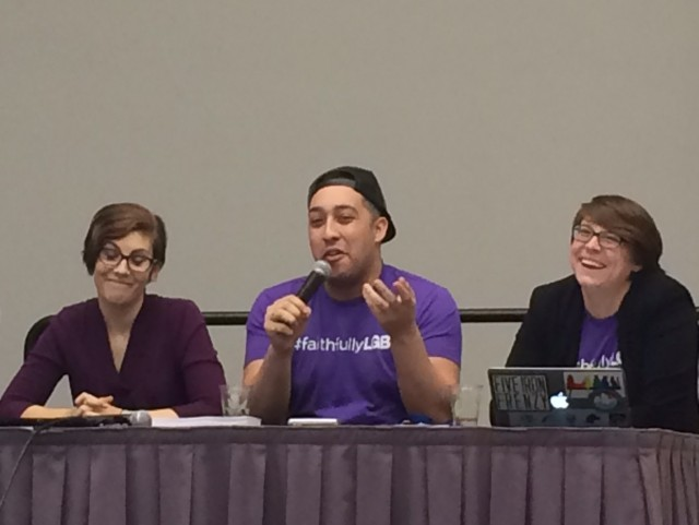 Samantha Field, Eliel Cruz and Sarah Moon shared strategies for how the church can and must be more inclusive of bisexuals.