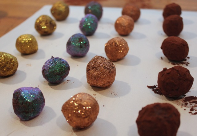 sparkly truffles