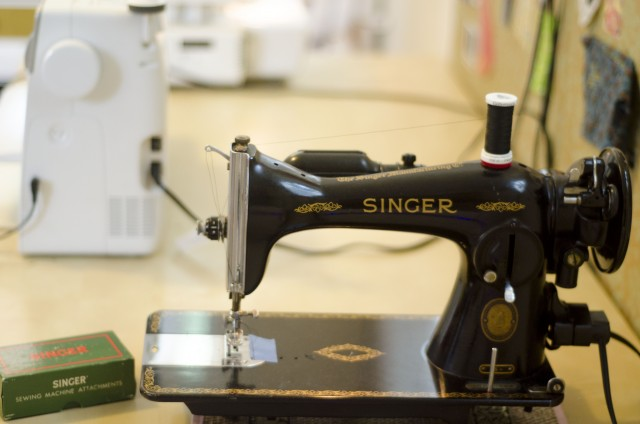 My vintage Singer is a dream to sew on, even though it sounds like a locomotive when it's working at it's top speed.