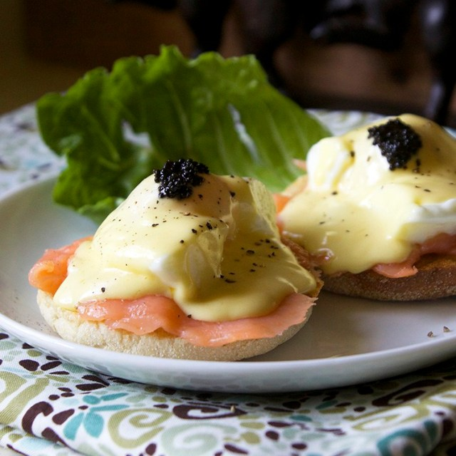 Eggs Benedict With Salmon And Caviar