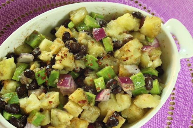 Sweet Potato, Black Bean and Nopales Salad
