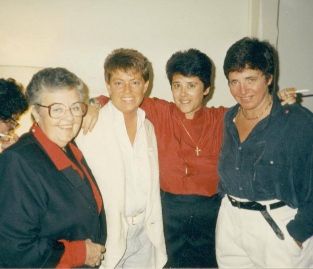 left to right, Ivy Bottini, Jean O'Leary, Jeanne Cordova, Robin Tyler. via Frontiers Media