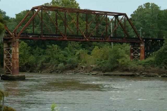 A bridge over the Flint River. Via Shutterstock.