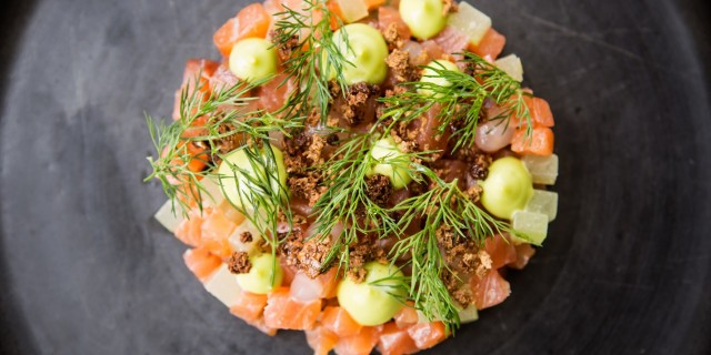 Gin and Tonic Cured Salmon