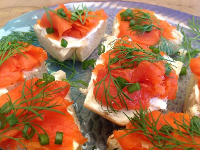 Traditional Scottish Lox Salmon Open Faced Sandwich