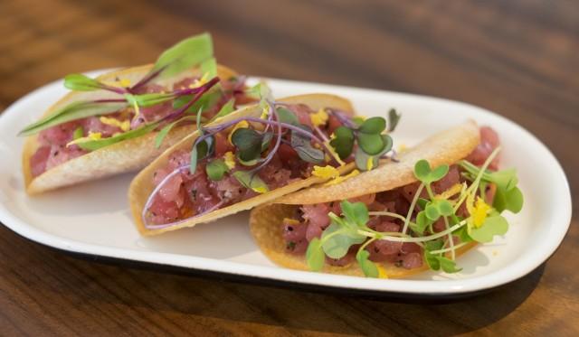 Tuna Tartare Taco Bites