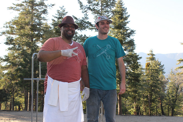 Alpine cooks supporting the cause (photo by Laura Mandanas)
