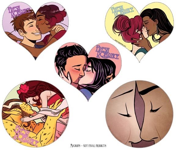 Some super cute Fresh Romance stickers you can get for backing the campaign.