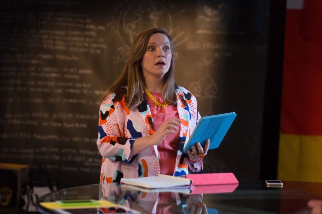 Programme Name: W1A 2 - TX: n/a - Episode: n/a (No. 1) - Picture Shows:  Siobhan Sharpe (JESSICA HYNES) - (C) BBC - Photographer: Jack Barnes