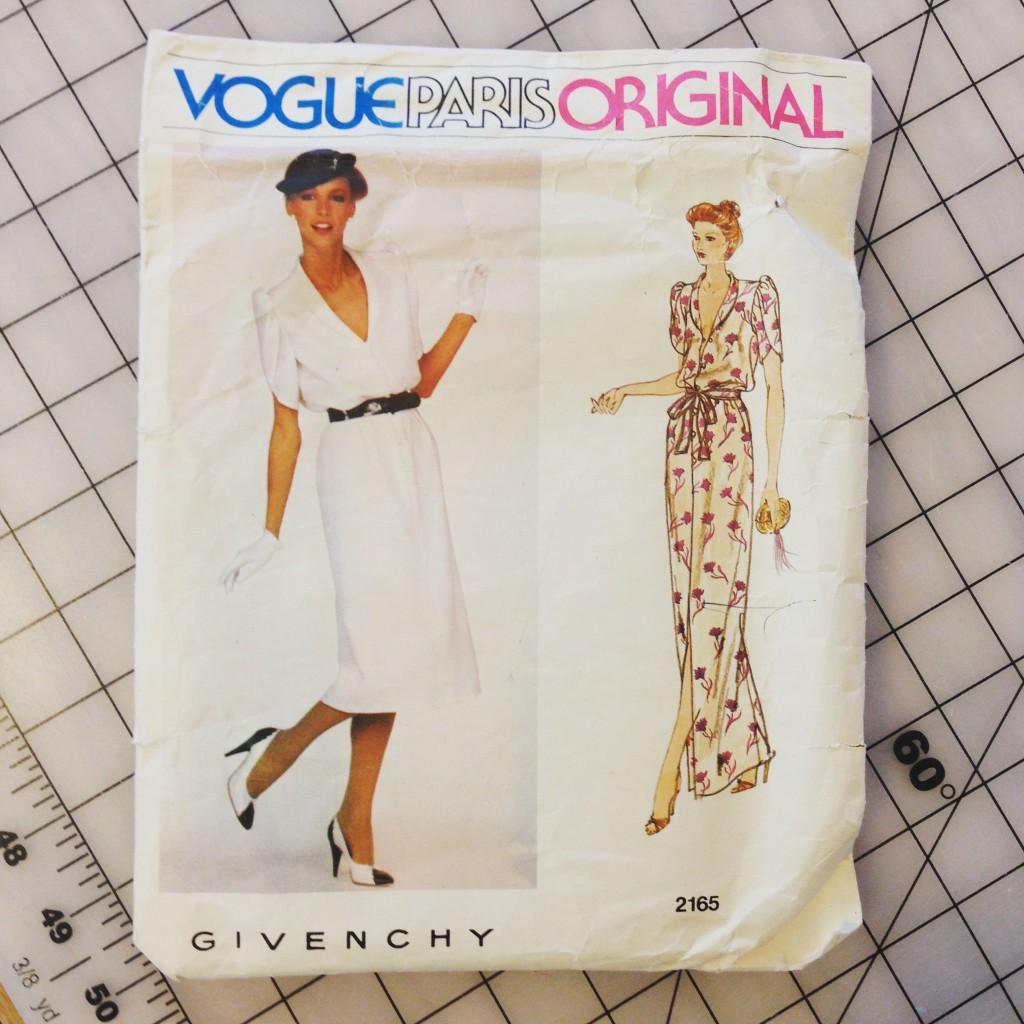 A vintage Vogue pattern by designer Givenchy; I recently wore this dress to a fundraiser.