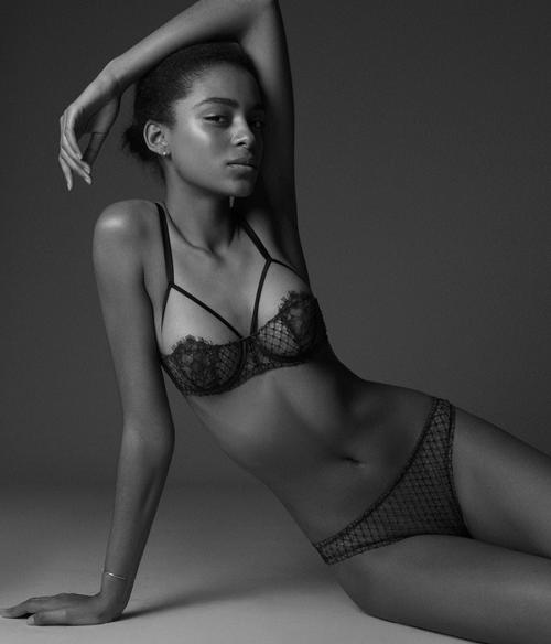 Fleur du Mal & Eres lingerie in Barneys lookbook 2016. Photo Alexandra Nataf. Model Alecia Morais. Via the lingerie addict
