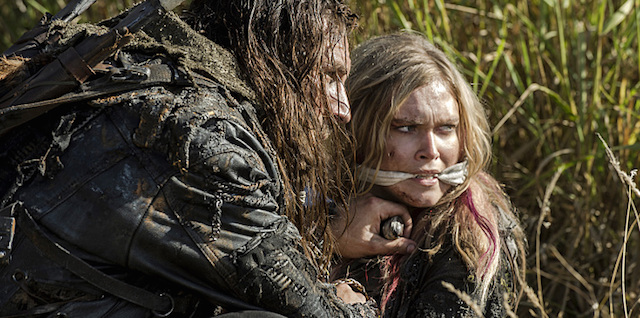 """The 100 -- """"Wanheda: Part Two"""" -- Image HU302C_0052 -- Pictured (L-R): Zachary McGowan as Roan and Eliza Taylor as Clarke -- Credit: Cate Cameron/The CW -- © 2015 The CW Network, LLC. All Rights Reserved"""